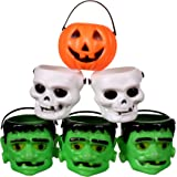 Mini Halloween Pumpkin Candy Bowl Holder Decor for Halloween Party (12 Pack)