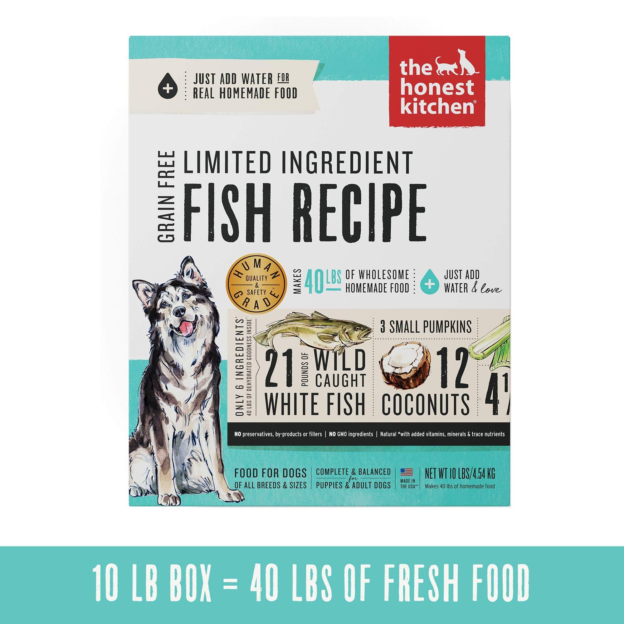 Honest Kitchen Limited Ingredient Fish Dog Food Recipe  10 lb box - Brave by Honest Kitchen