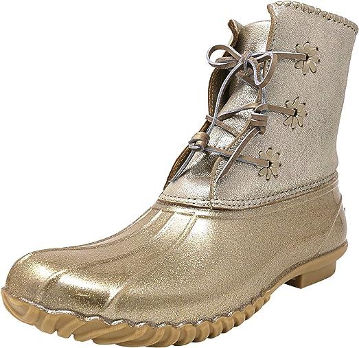 Women's Chloe Glitter High-Top Rubber Rain Boot