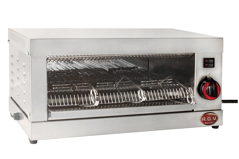 RGV Te1P - Horno tostador, 500 W, color plateado: Amazon.es: Hogar