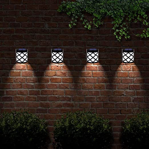 6 LED decorativas lámparas de jardín solar luces valla para exteriores resistente a la intemperie inalámbrica (8): Amazon.es: Jardín