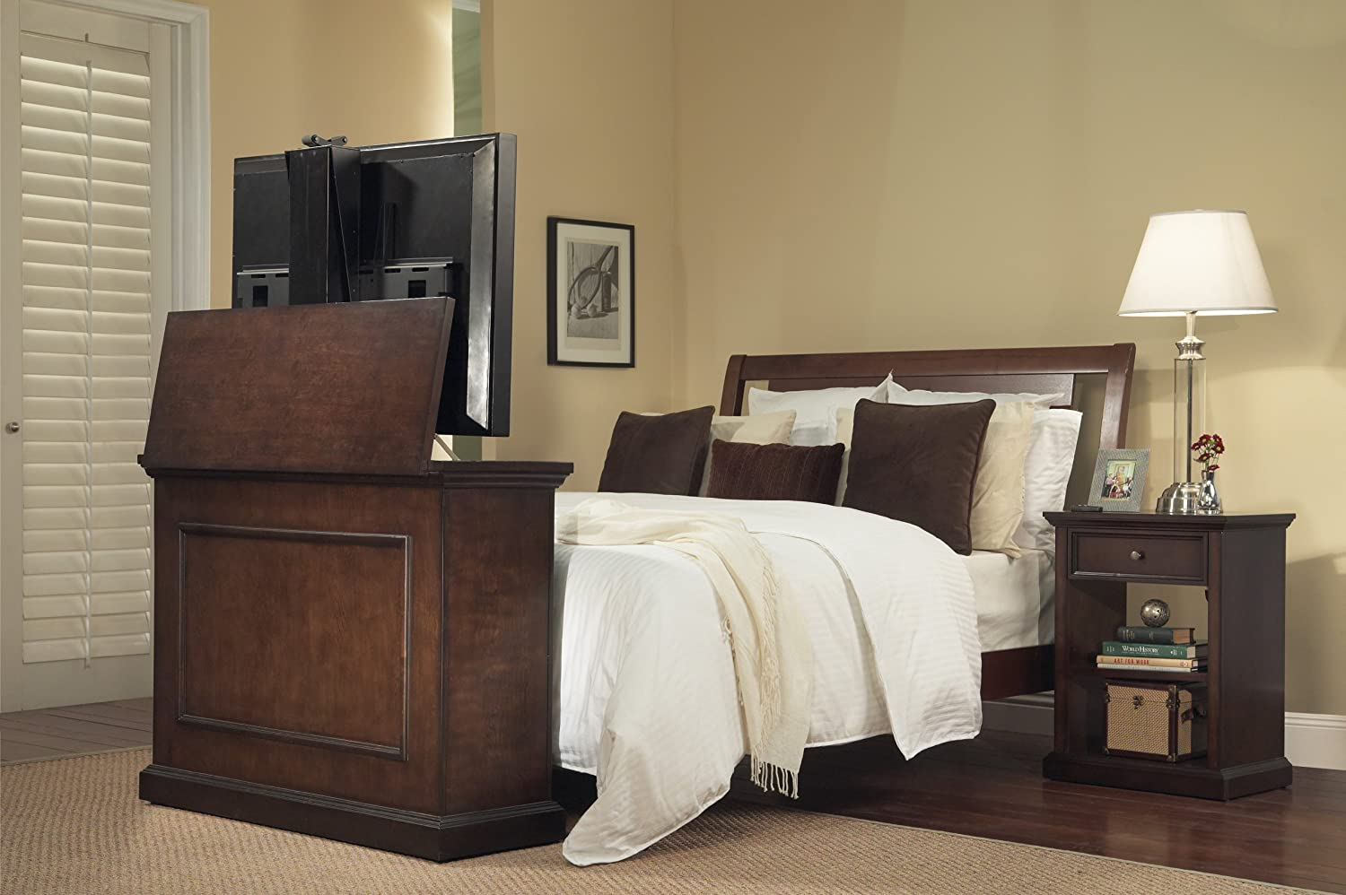 Amazon.com: Touchstone 72008 Elevate TV Lift Cabinet  50-Wide Television  Stand Wood  Espresso: Kitchen & Dining