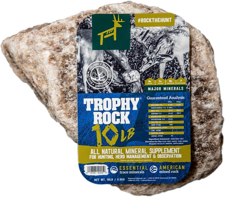 TROPHY ROCK Redmond All-Natural Mineral Rock//Salt Lick Attract Deer and Big ...