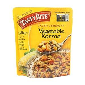 Tasty Bite Indian Entrée, Vegetable Korma, 10 Ounce