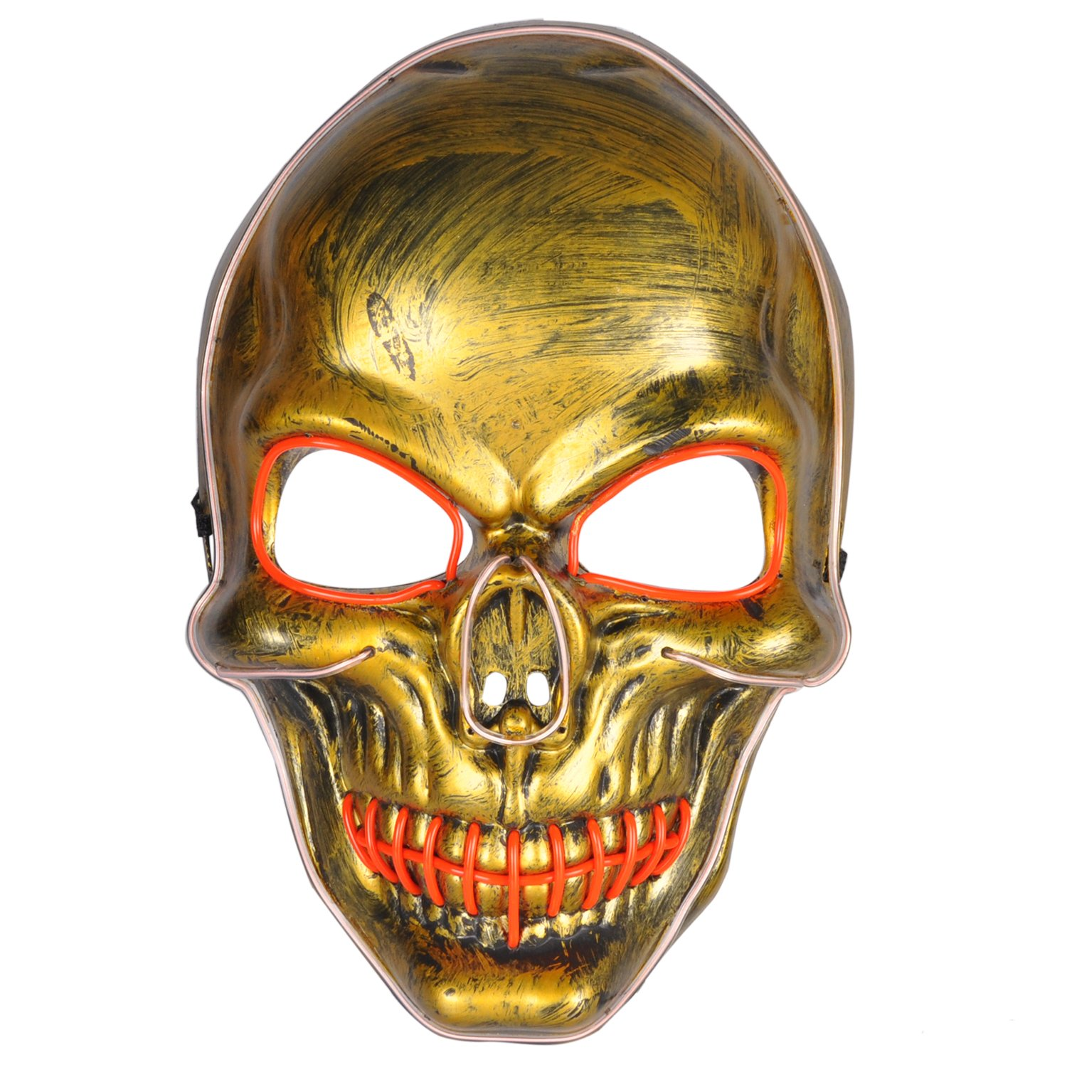 Light up Skull Mask LED Glowing for Halloween Rave Costume Cosplay Party