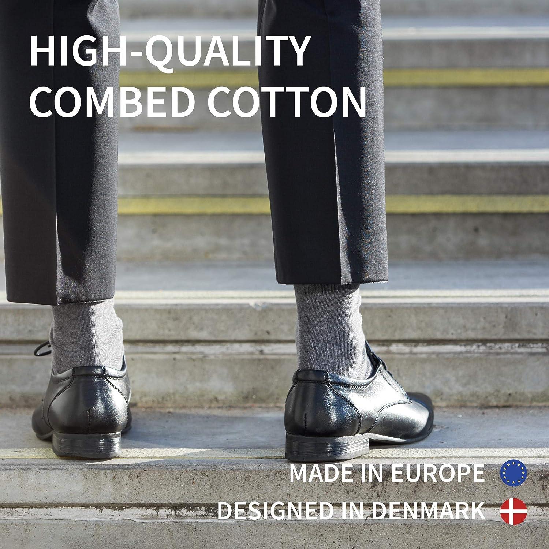 Pacco da 1 Prodotti in Europa Traspiranti Nero Certificati OEKO-TEX DANISH ENDURANCE Calzini di Cotone per Uomo e Donna Resistenti e Colorati Morbidi