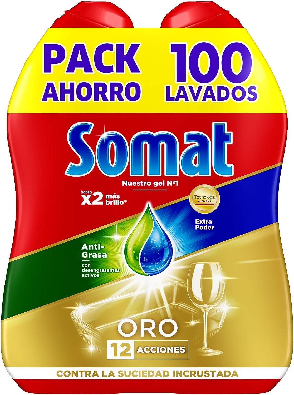 Somat Oro Gel Lavavajillas Antigrasa - 100 Lavados