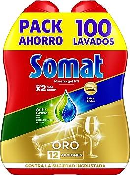 Somat Oro Gel Deteregente Lavavajillas Antigrasa 100 Lavados