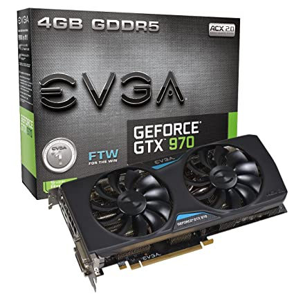 Amazon com: EVGA NVIDIA GeForce GTX 970 FTW 4GB GDDR5 2DVI/HDMI