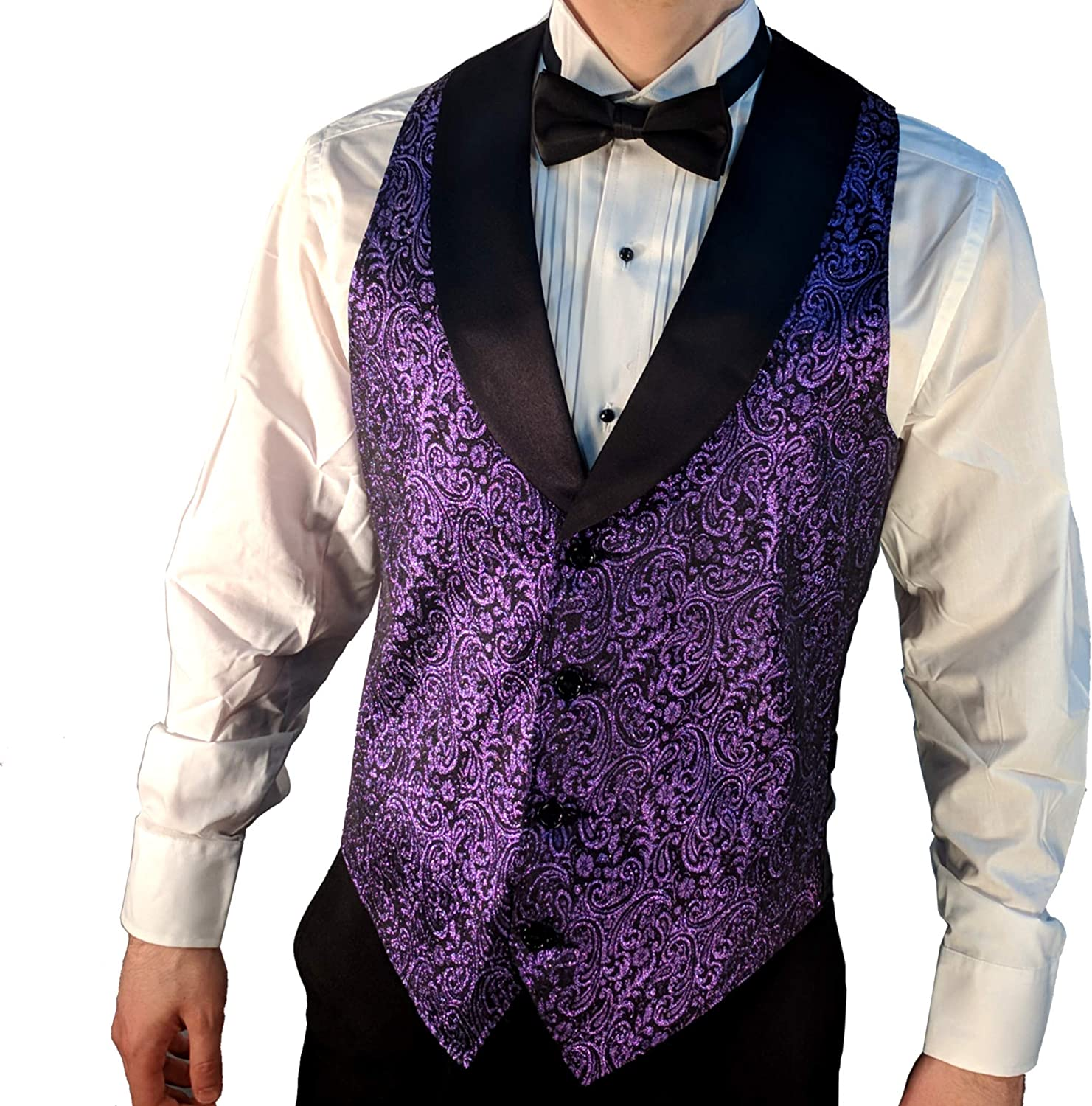 Men/'s Horizontal Striped Red Polyester Tuxedo Vest with Self Tie Necktie and Handkerchief 2010 for Formal Occasions