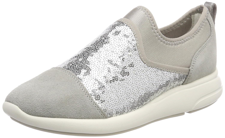 Geox D Ophira B, Zapatillas para Mujer 37 EU|Plateado (Lt Grey/Silver)