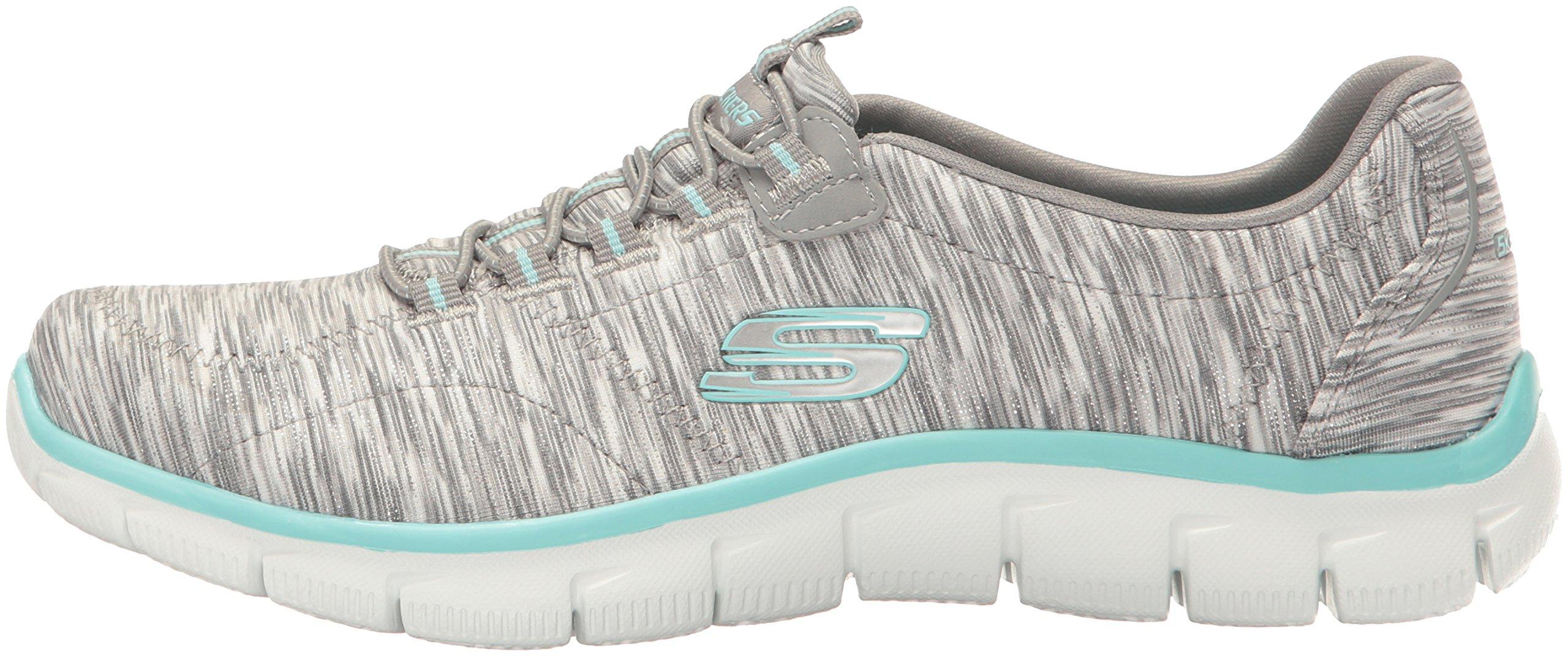 Skechers Women's Sport Empire - Rock Around Relaxed Fit Fashion Sneaker, Gray/Light Blue, 9 B(M) US by Skechers (Image #5)