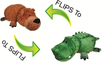 Skylofts 40cm (Crocodile + Labrador) 2-in-1 Stuffed Animal 16 inch Soft Toy- Adorable Plush Animals That Transform from one Animal into Another with a Quick Flip.