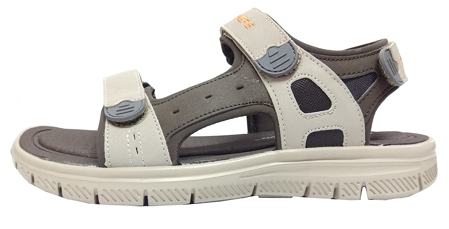 4c03524daf9e Skechers Men s Flex Advantage S-Upwell Brown Taupe Sandals (UK-9)  Buy  Online at Low Prices in India - Amazon.in