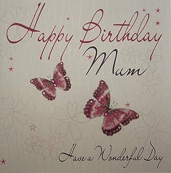 White Cotton Cards 1 Piece Extra Large Handmade Mum Birthday Card