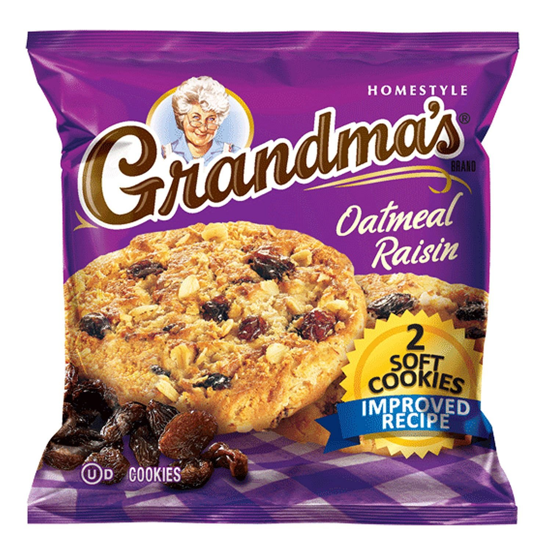 Grandma's Oatmeal Raisin Cookie - 2 cookies per pk. - 60 ct. - SCL