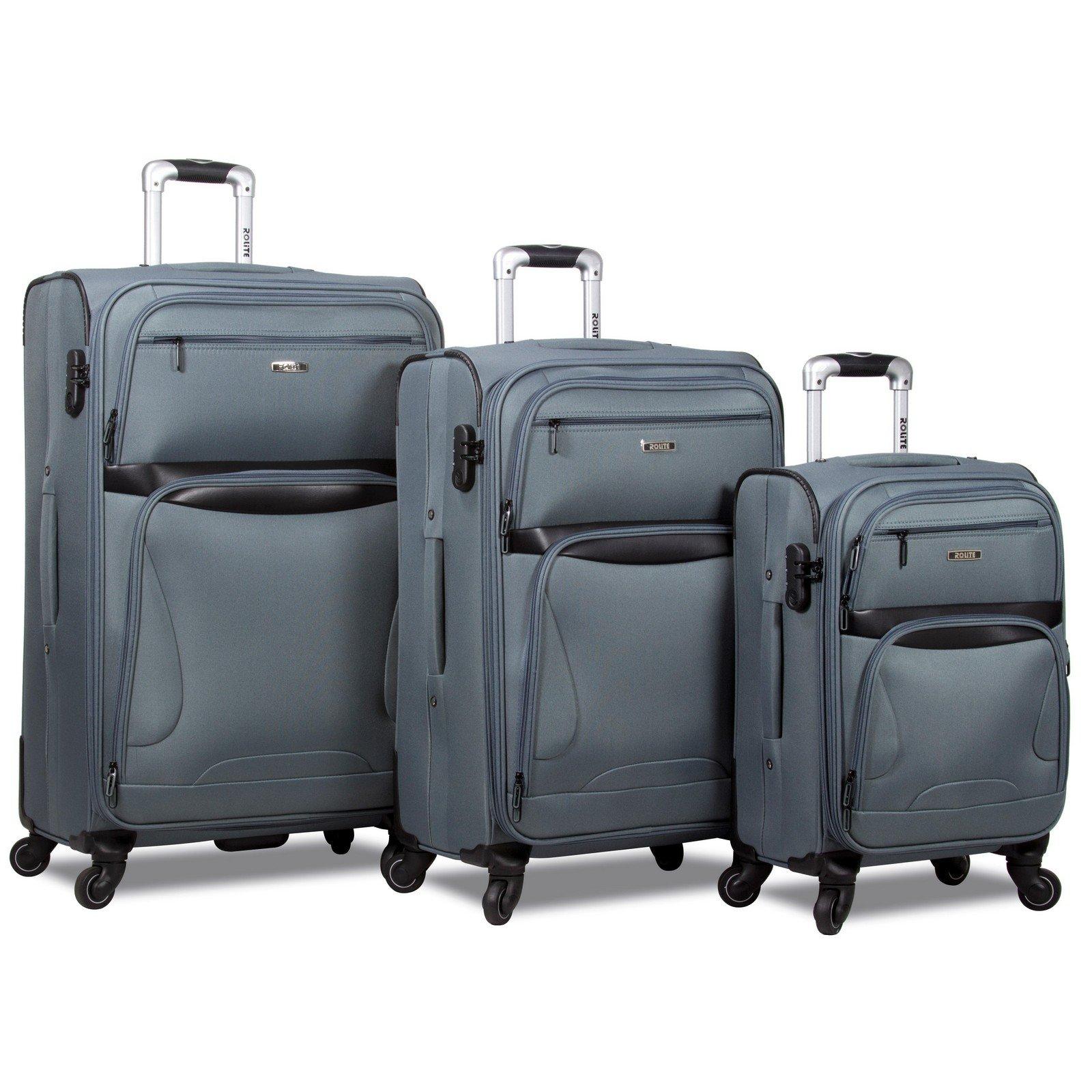 Rolite Explorer 3-Piece Expandable Spinner Luggage Set, Grey