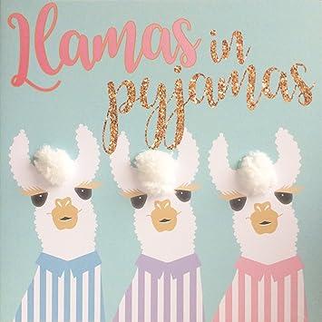 Llamas in pyjamas birthday get well soon greetings card hand llamas in pyjamas birthday get well soon greetings card hand finished with m4hsunfo