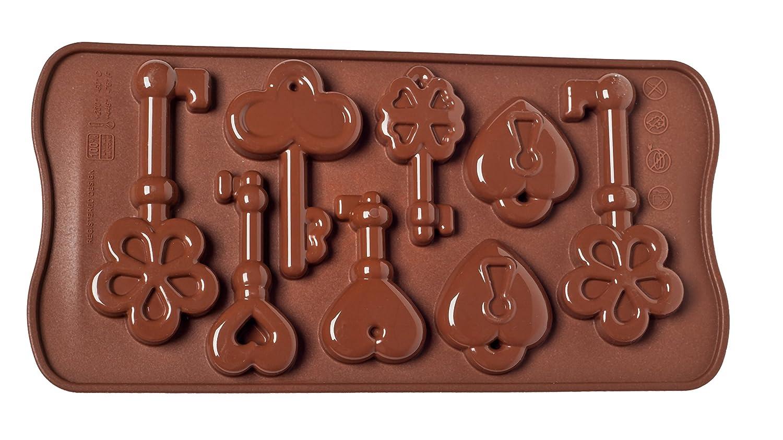 Unbekannt SCG33 Molde de Silicona para chocolatines con Forma de Llaves, Color marrón: Amazon.es: Hogar