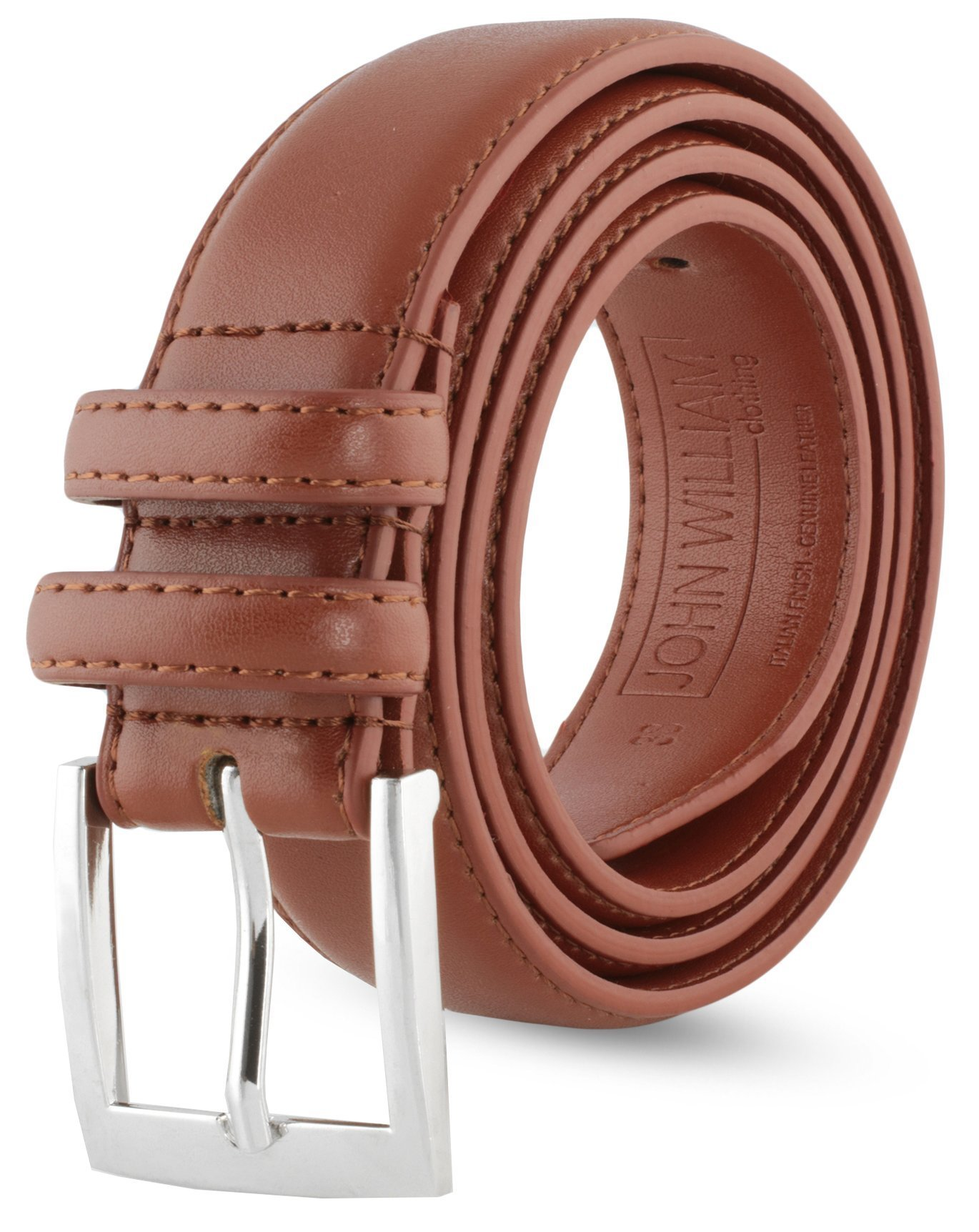 Leather Belts For Men - Mens Brown Belt - 1.25'' Dress & Casual Men's Belt in Gift Bag - 38 Burnt Amber