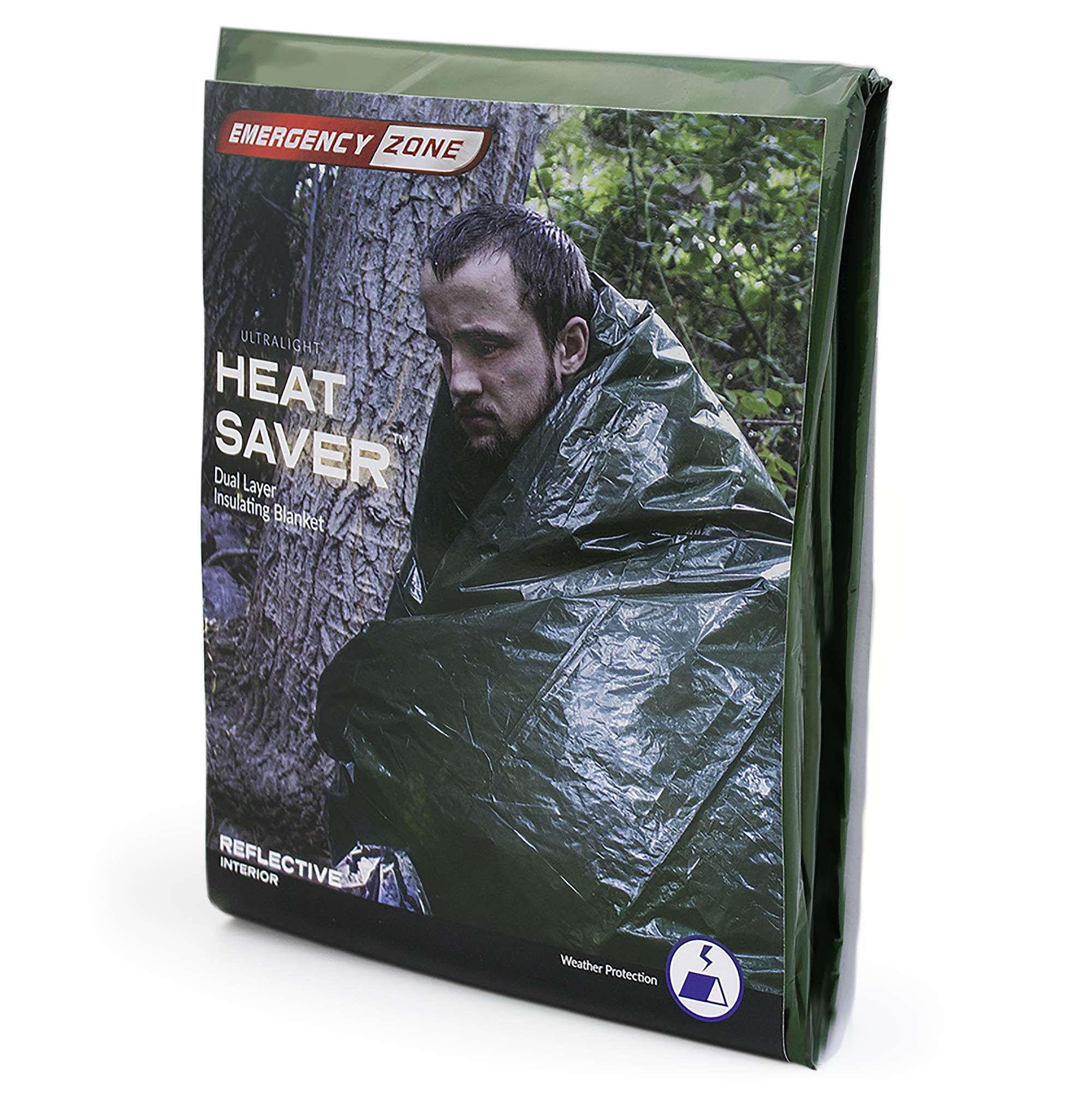 Emergency Zone Ultralight HeatSaver Dual Layer Insulating Emergency Blanket. 1 Pack by Emergency Zone (Image #1)