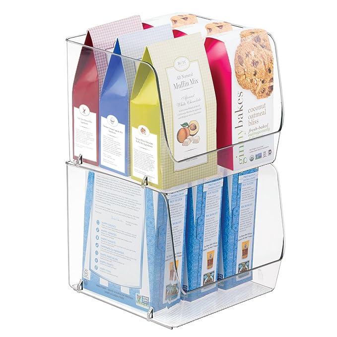 Contenedor plástico para guardar todo tipo de objetos de cocina ? Guardatodo ideal para la despensa o nevera - Color: transparente: Amazon.es: Hogar