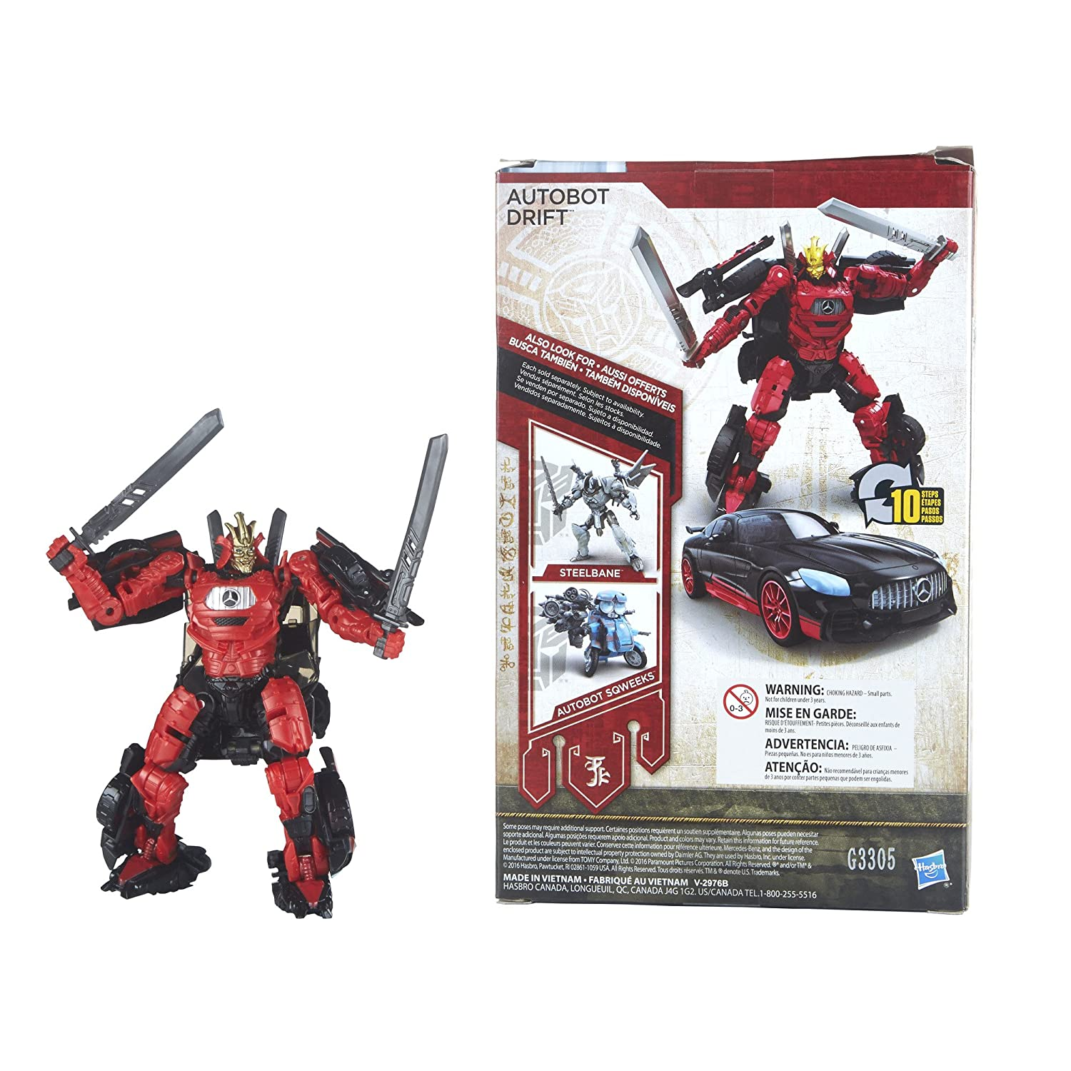 Amazon.com: Transformers - C2400 - Last Knight Premier Edition Deluxe Autobot Drift: Toys & Games