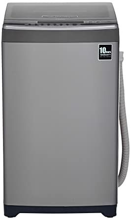Haier 6.5 Kg Fully-Automatic Top Loading Washing Machine (HWM65-698NZP, Grey)
