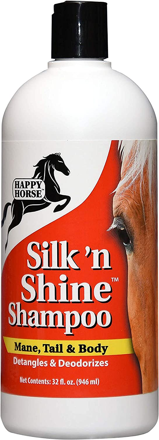 HARRIS Happy Horse Silk 'n Shine Mane, Tail & Body Shampoo for Silky & Manageable Hair 32oz