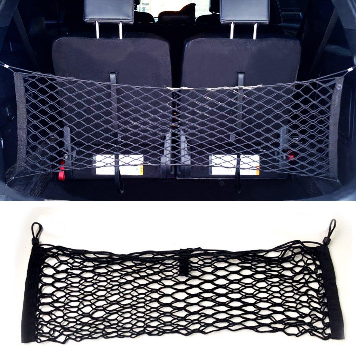 Amazon.com: Zone Tech Large Pocket Mesh Storage Net   Black Mesh Large  Pocket Trunk Cargo Organizer With 2 Mounting Options: Automotive