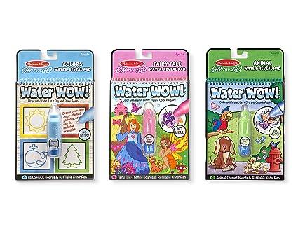 Amazon.com: Melissa & Doug On the Go Water Wow! Activity Pad 3-Pack ...