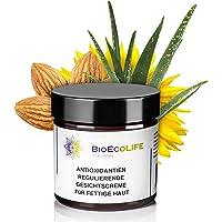Reglerande ansiktskräm med antioxidanter för fet hud   60 ml   Aloe-extrakt   Reglerar talgsekretion   För fet hud och…