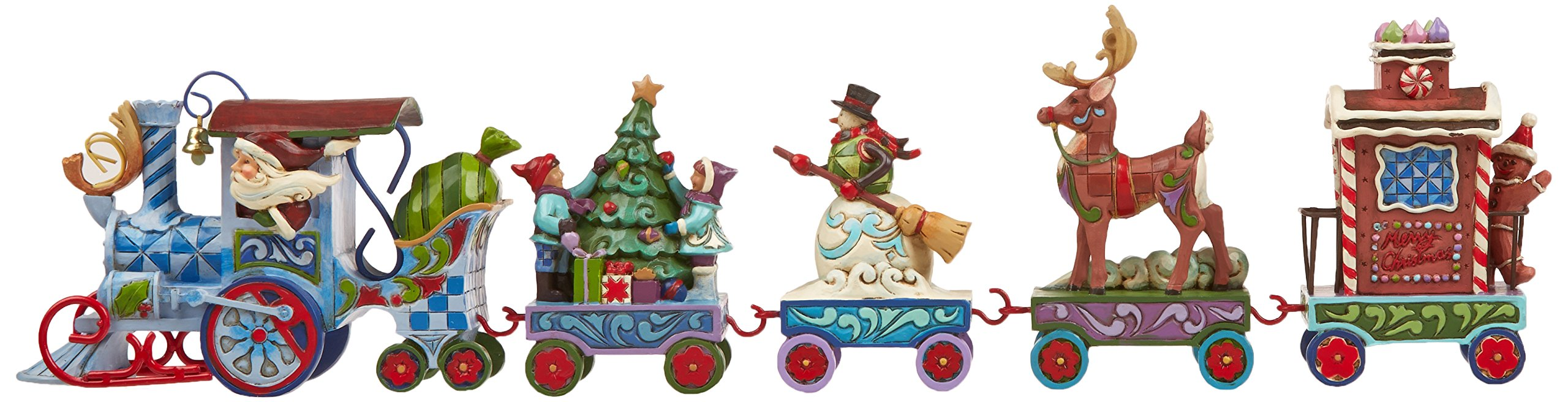 Jim Shore Heartwood Creek Holiday Express Train 5-Piece Mini Set Stone Resin Figurine, 3.5""