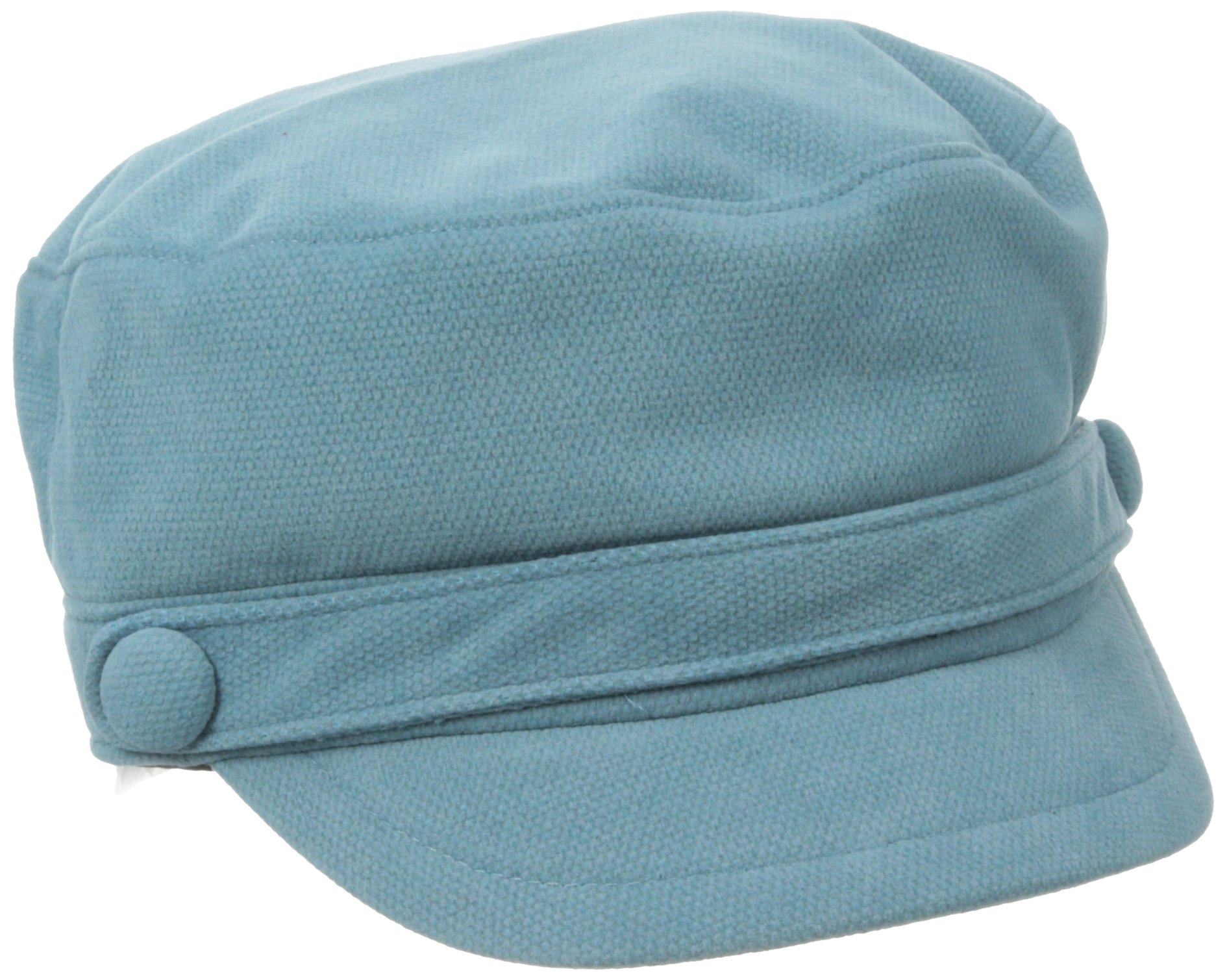 San Diego Hat Company Women's Sueded Corduroy Greek Fisherman Hat, Teal, One Size