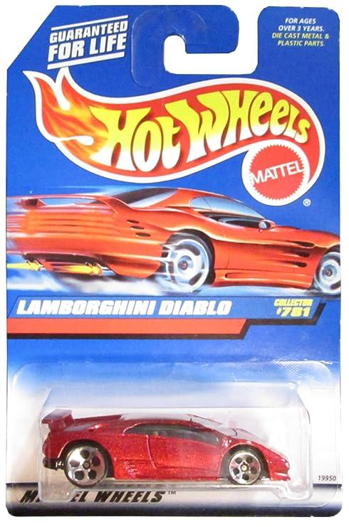 Amazon Com Hot Wheels 781 Lamborghini Diablo 5 Hole Wheels Maroon