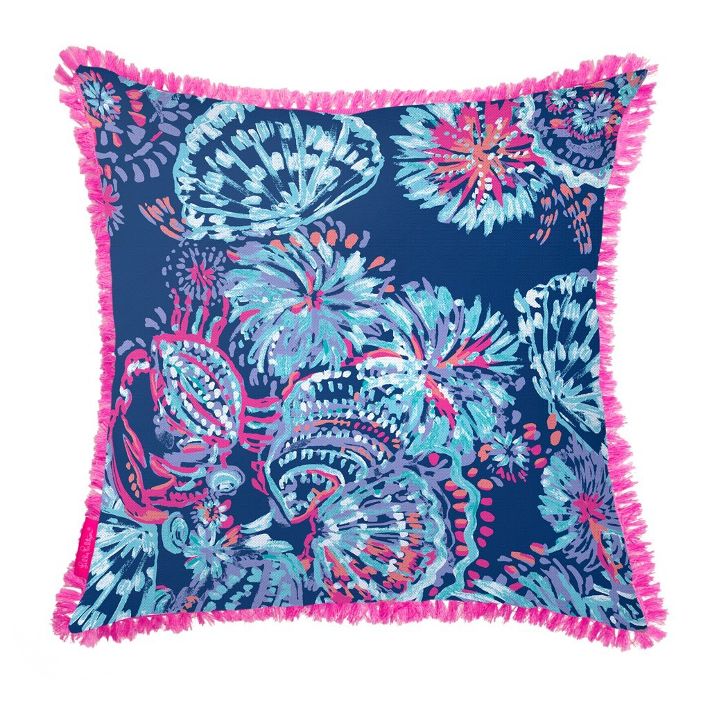 bf30588ffd006f Amazon.com: Lilly Pulitzer Indoor/Outdoor Large Decorative Pillow, Gypsea  Girl: Home & Kitchen