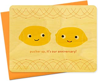 product image for Night Owl Paper Goods Pucker Up Wood Anniversary Card