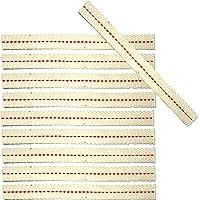 Petroleumlaterne.com - 10 mechas para linternas de mano de fuego, 12,5 mm de ancho, algodón puro, 120 mm de largo…