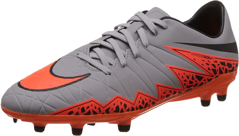 1.5 Nike Youth Soccer Cleats Hypervenom Phelon II Firm Ground Cleats Crimson