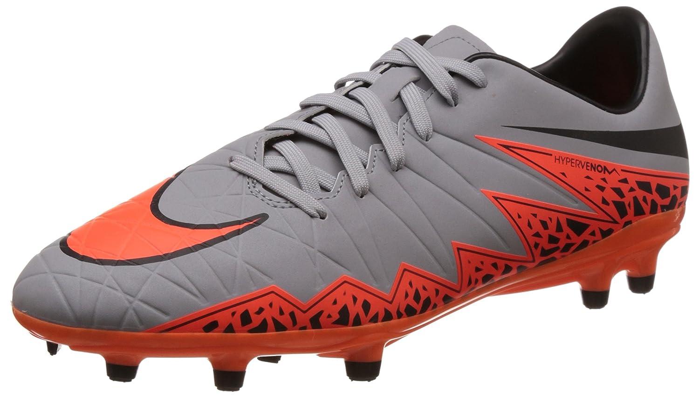 NikeHypervenom Phelon II FG - Zapatillas de Fútbol Entrenamiento Hombre 41 EU|Gris - Grau (Grau/Orange)