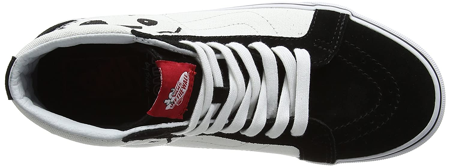 VANS MENS SK8 HI REISSUE LEATHER SHOES B01N1RM850 9.5 B(M) US Women / 8 D(M) US Men|(Peanuts) Joe Cool/Black