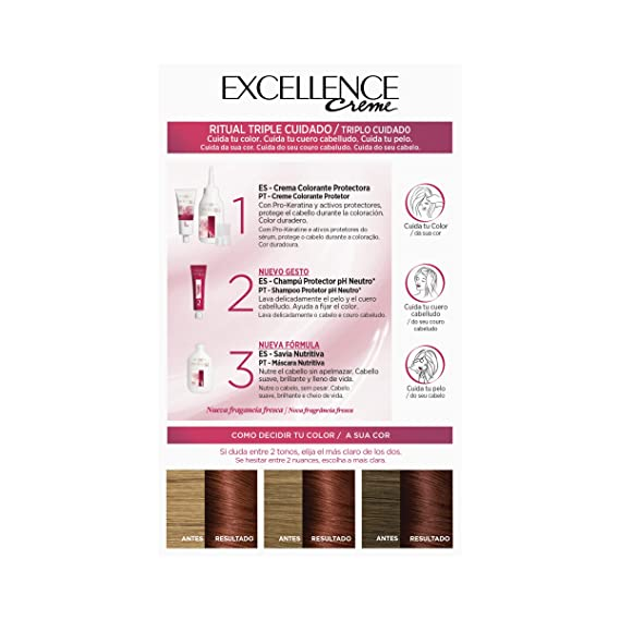 Amazon.com: EXCELLENCE Creme #6,46 rubio oscuro cobrizo ...