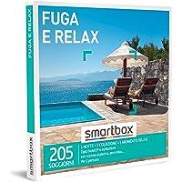 Smartbox - Fuga e relax Cofanetto Regalo Soggiorni e benessere 1 notte con colazione e 1 momento relax per 2 persone