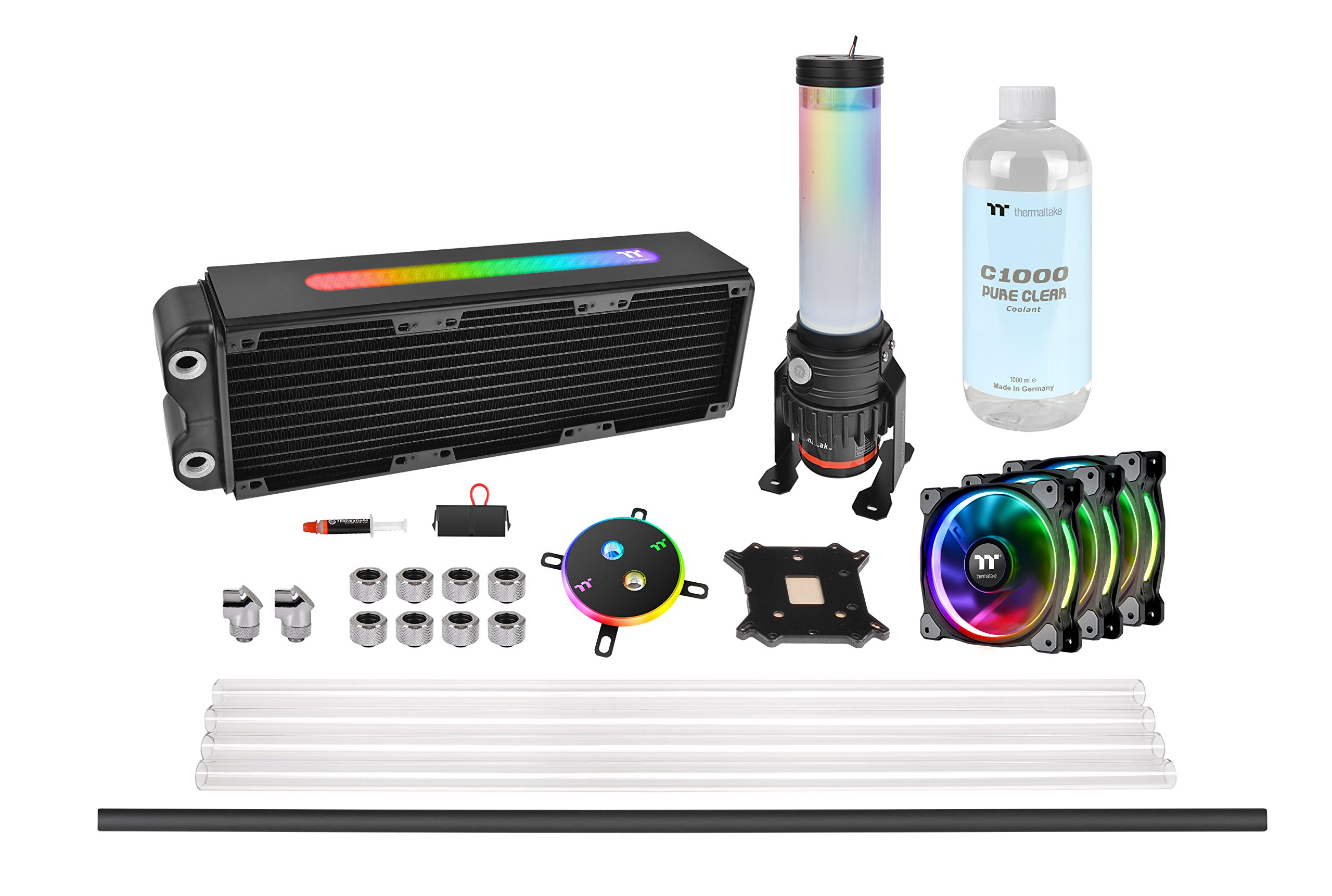 Thermaltake Pacific M360 Plus D5 Res/Pump PETG Hard Tube Water Cooling Kit CL-W218-CU00SW-A