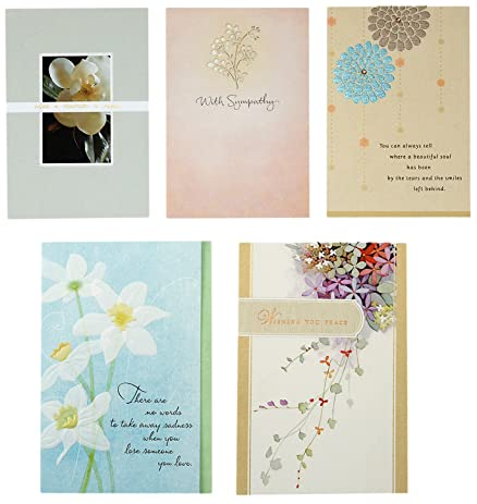 Amazon hallmark sympathy greeting card assortment 5 cards 5 hallmark sympathy greeting card assortment 5 cards 5 envelopes m4hsunfo