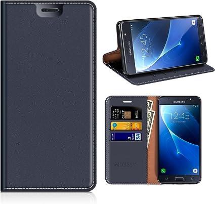 MOBESV Funda Cartera Samsung Galaxy J7 2016, Funda Cuero Movil ...
