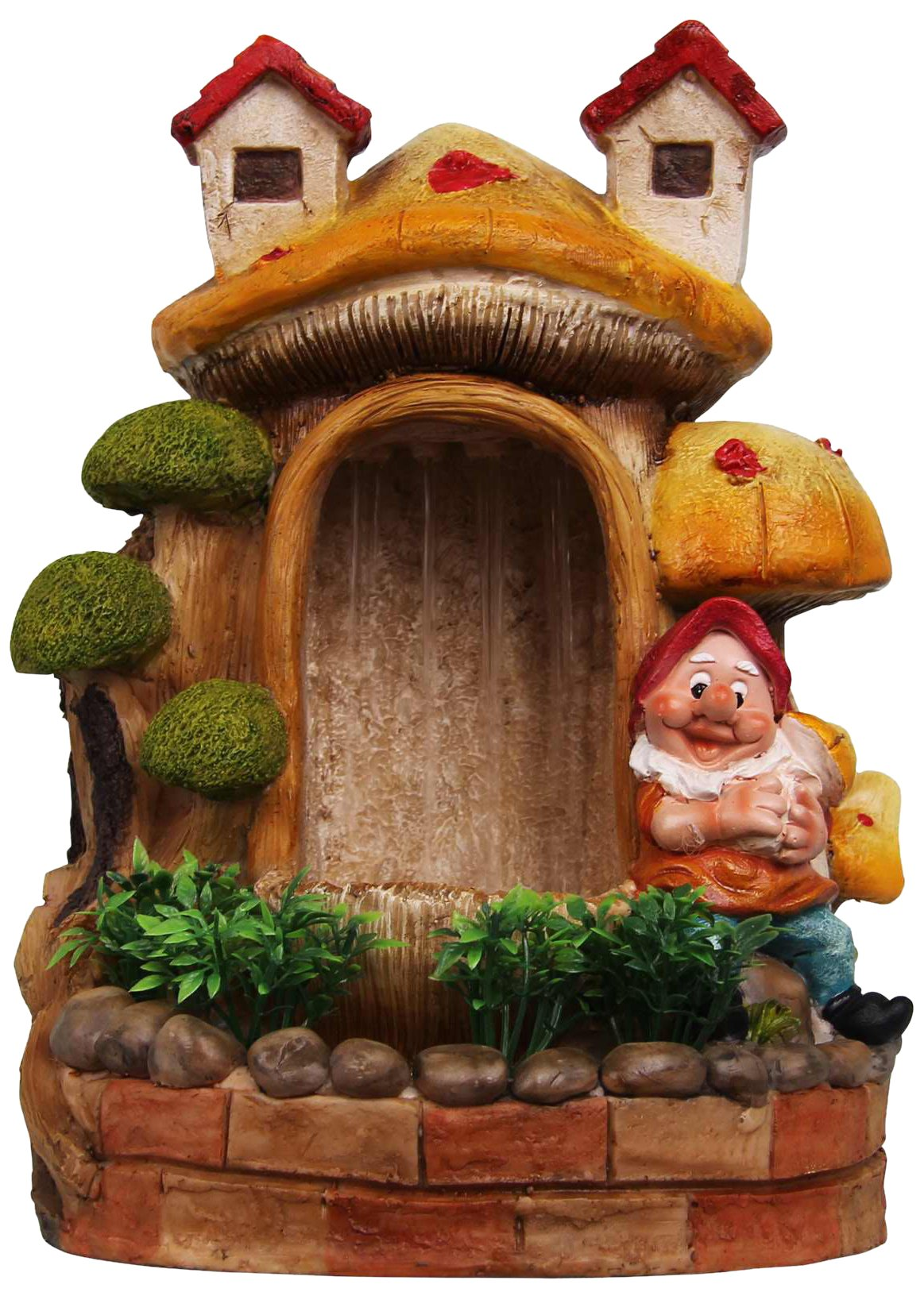 SINTECHNO SNF91149-4 Cute Gnome and Bonsai Water Fountain