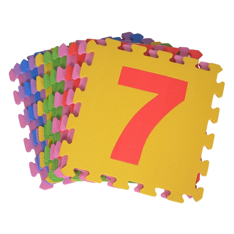 Tappeto da gioco Tappeto Tappetino da gioco per bambini in schiuma Matte Matte ABC bunt sixf lowers Puzzle da 36 pezzi