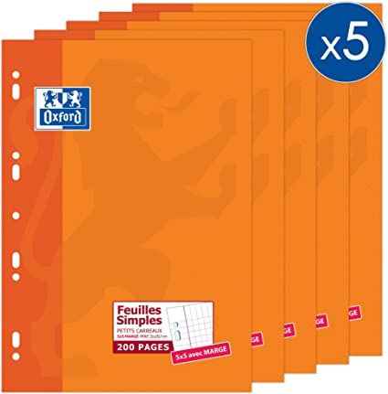 Oxford Office 100105677, Páginas Pequeños Cuadrados Movibles 90 g ...