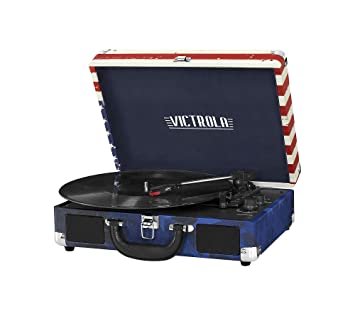 Victrola Bluetooth maleta de 3 velocidades Tocadiscos con ...